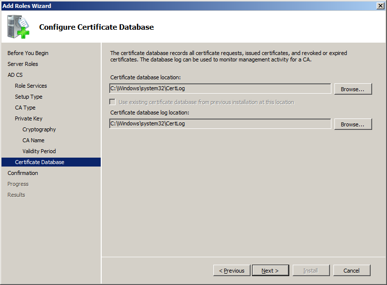 Vsphere 5 Certificates 1 Installing A Root Certificate Authority