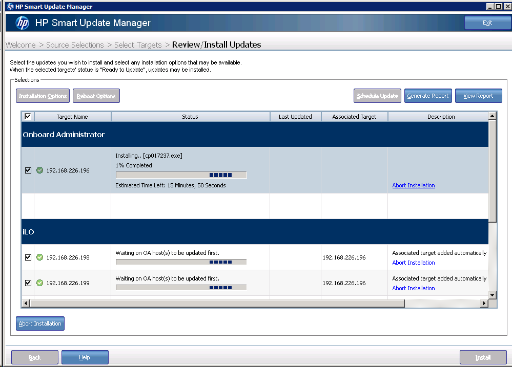 Updating HP Blade Chassis Firmware with HP Smart Update Manager